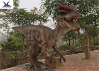Giant Dilophosaurus Model Outdoor Dinosaur Yard Art Customize Color / Size